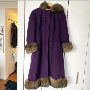 Vintage Wool and Fur Coat